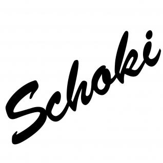 Schoki 19cm schwarz Aufkleber Tattoo Deko Folie Schriftzug Küche Bar Kühlschrank