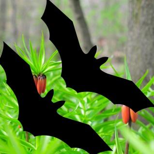 2 Stück Fledermaus Aufkleber 30cm schwarz Tattoo Fenster Vogel Schutz Deko Folie