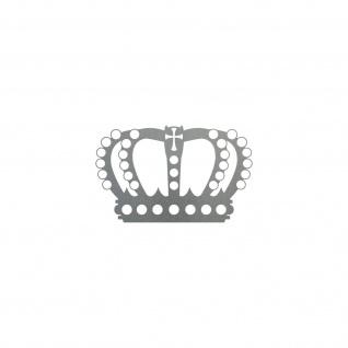 Perlen Krone 12cm silber Aufkleber Tattoo Deko Folie Auto Möbel Fenster Tür