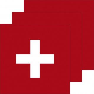 3 Aufkleber 7cm Sticker Schweiz Swiss SUI CH Fußball EM WM National Flagge Fahne