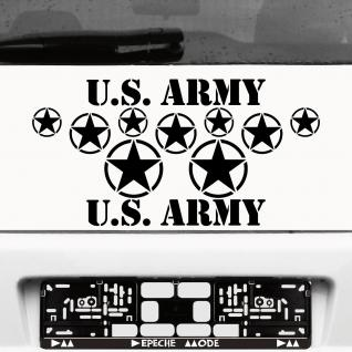 schwarz USA Sterne Schriftzüge US Army Auto Aufkleber Tattoo die cut Deko Folie