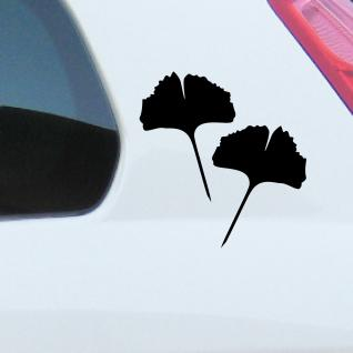 1 Paar 2 Blätter 20cm grün Ginkgo Blatt Aufkleber Tattoo Gingko 4061963037591 - Vorschau 3
