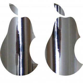 2 Aufkleber Tattoo Birne 10cm chrom Apple verarsche Tablet Laptop Notebook Auto