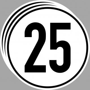 3 Aufkleber 25 kmh km/h 20cm TÜV DIN1451 Zugmaschine Trecker Schlepper Anhänger