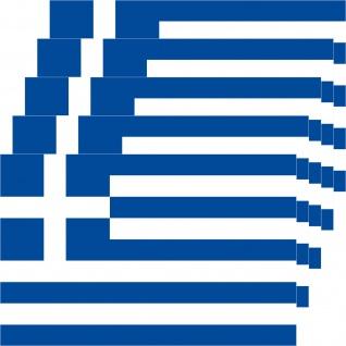 5 Aufkleber 8, 5cm Sticker GR Griechenland Fußball EM WM National Flagge Fahne - Vorschau 3