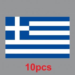 10 Aufkleber 8, 5cm Sticker GR Griechenland Fußball EM WM National Flagge Fahne - Vorschau 2