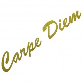 20cm gold Carpe Diem Schriftzug Aufkleber Tattoo Auto Tür Fenster Deko Folie