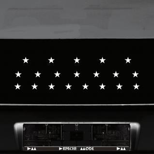 20 Aufkleber Tattoo Sterne 2, 5cm weiß Klebesterne Auto Fenster Tür Deko Folie