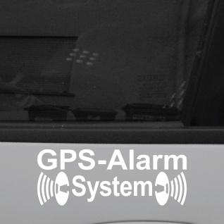 5 Aufkleber Tattoo GPS Alarm System weiß Auto Schaufenster Außen getönte Scheibe