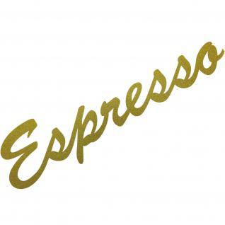 Espresso 30cm gold Schriftzug Wandtattoo Aufkleber Tattoo Deko Folie Bar Küche