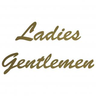 Set Aufkleber gold Folien Tattoo Wandtattoo Ladies Gentlemen Schriftzug Toilette