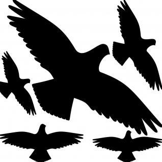 35cm Set schwarz Vögel Aufkleber Tattoo Vogel Glas Schutz Abwehr Fensterfolie