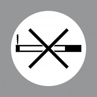 Aufkleber 10cm rund UV Rauchverbot Rauchen verboten Hinweis Warnung Tankstelle
