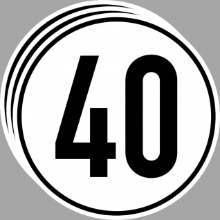 3 Aufkleber Sticker 40 kmh km/h 20cm Geschwindigkeit Auto Bus Pkw Schild DIN1451