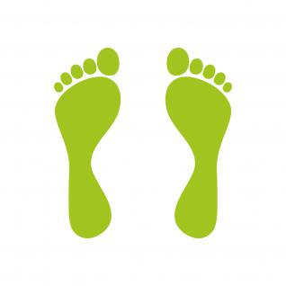 3 Paar Fuß 12cm 6 Füße Füßchen Kinderfüße Fußabdruck Aufkleber Tattoo Deko Folie