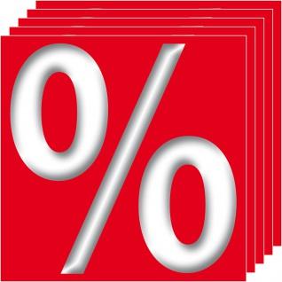 5 Aufkleber 10cm Sticker Prozent Zeichen Symbole Rabatt Aktion Hinweis SALE %