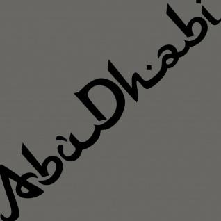 Schriftzug Abu Dhabi schwarz 100cm Auto Tür Heck Aufkleber Tattoo Deko Folie