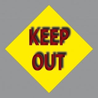 Aufkleber 10cm Sticker Keep Out Draußen Bleiben Kein Zutritt Verboten
