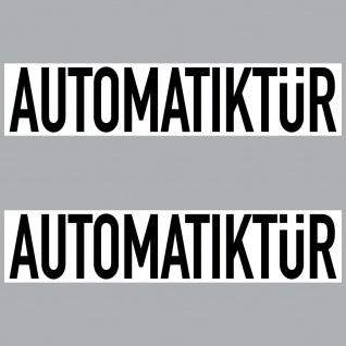 2 Aufkleber 20cm Sticker Automatiktür Hinweis automatik Tür Schild 4061963068526