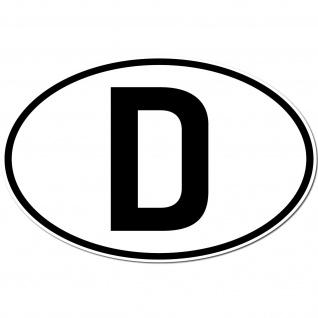Aufkleber Sticker D Deutschland BRD Auto Länderkennzeichen Symbol Schild Zeichen