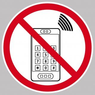 Aufkleber 15cm Handyverbot Handy Smartphone Mobil Nutzung telefonieren Verboten