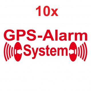 10 Aufkleber Tattoo GPS Alarm System rot gespiegelt Auto Fenster Seiten Scheibe