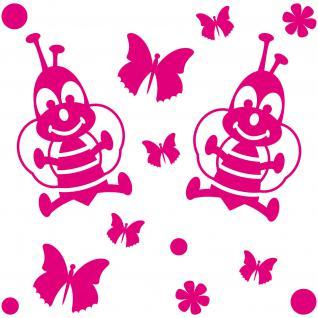 14 Aufkleber Tattoo Schmetterling Biene Blume Auto Möbel Schrank Tür Deko Folie