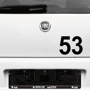 2 Stück Aufkleber Tattoo Folie 12cm schwarz Startnummer Zahl Nummer Racing