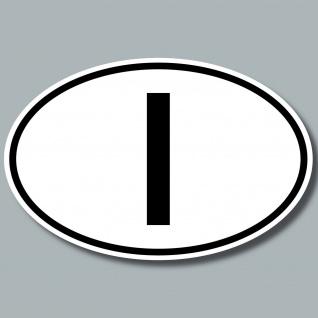 I Aufkleber Sticker ITA ITAL Italien Auto Pkw Lkw Kfz Bus Länderkennzeichen