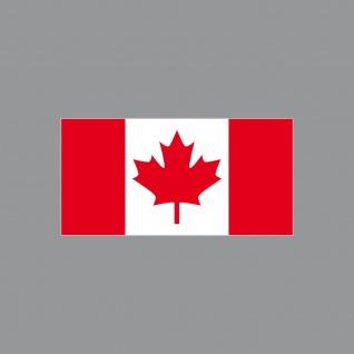 Aufkleber 6, 5cm Sticker CAN Kanada canadian Flagge Fahne Fußball Fan EM WM Deko