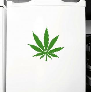 1 Hanf Blatt 10cm grün THC Gras Pflanze Marihuana Aufkleber Tattoo Deko Folie - Vorschau 3