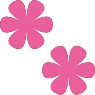 2 Aufkleber 8cm pink Blume Blümchen Wand Tür Kinder Möbel Auto Tattoo Deko Folie