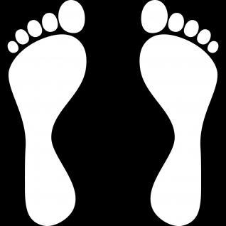 5 Paar 10 Füße 30cm bunt Fuß Abdruck Spur Aufkleber Auto Möbel Tattoo Deko Folie