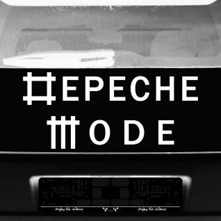 Aufkleber Schriftzug weiß Tattoo Auto Heck Fenster etc. Deko Folie Depeche Mode