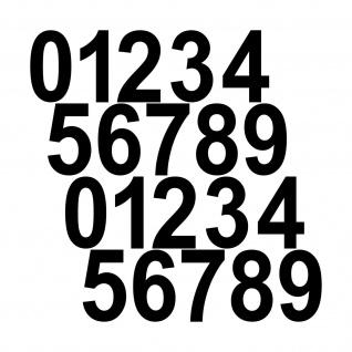 20 Aufkleber Tattoo 6cm schwarz Zahl Zimmer Haus Tür Spind Start Nummer Ziffer