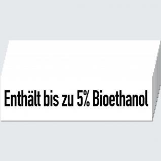 10 Aufkleber Sticker Enthält bis zu 5% Bioethanol Tankstelle Zapfsäule Hinweis