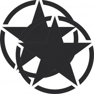 2 Aufkleber 30cm Tattoo schwarz matt USA US Stern Auto Deko Folie Autoaufkleber