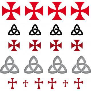 Gothic Kelten Templer Maurer Runen Symbole Zeichen Aufkleber Tattoo Deko Folie