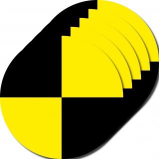 5 Aufkleber 10cm gelb Sticker Fadenkreuz crashtest dummy Zeichen Symbol Marker