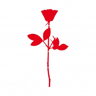 Rose 30cm rot Auto Tür Fenster Möbel Deko Folie Depeche Mode Aufkleber Tattoo