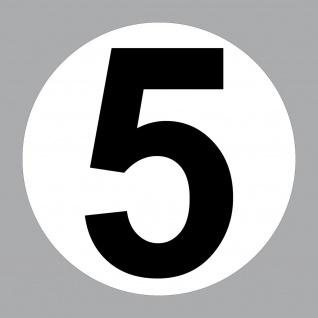 Aufkleber 20cm Nummer 5 Start Nr Haus Tür Garage Keller Tor Müll Kontainer Zahl
