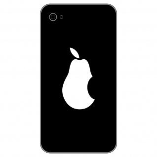 6 Aufkleber 5cm weiß Birne Handy smartphone Tattoo Deko Folie Apple verarsche