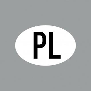 Aufkleber 8cm Sticker PL klein Länderkennung POL Länderkennzeichen 4061963088562