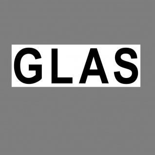 Aufkleber Glas 20cm Sticker Hinweis Müll Trennung Eimer Kontainer 4061963019122