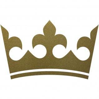 Krone 30cm gold König Aufkleber Tattoo Auto Tür die cut Deko Folie Kinderzimmer