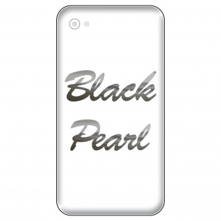 2 Aufkleber 6cm chrom glanz Black Pearl Handy smartphone iPhone Tattoo Dekofolie
