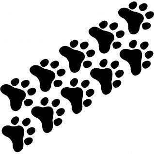 10 Pfötchen 3cm schwarz Katze Hund Füßchen Pfoten Auto Aufkleber Tattoo Folie