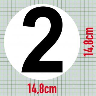 Set 9 Aufkleber 15cm Sticker 1 bis 9 Start Nummer Zahlen Racing Motor Sport Auto - Vorschau 3
