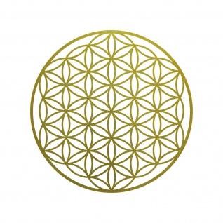 Aufkleber Tattoo 20cm gold Auto Tür Fenster Folie Blume des Lebens Lebensblume - Vorschau 1