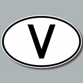 V Aufkleber Sticker Vatikan Länderkennung Länderkennzeichen 4061963019948